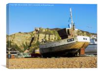 Hastings Old town Fishing Boats, Canvas Print