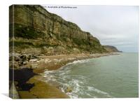 The Cliffs at Rock a Nore Hastings, Canvas Print