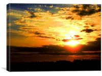 Sunset from West Hill Hastings, Canvas Print