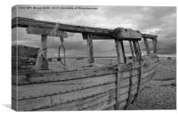 Abandoned boat at Dungeness, Canvas Print