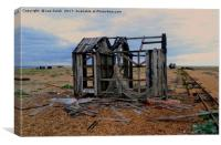 Derelict Fishing Hut at Dungeness, Canvas Print
