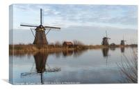 windmills in Kinderdijk Holland, Canvas Print