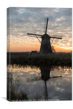windmill in Kinderdijk Holland, Canvas Print