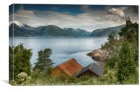 view on sognefjord in norway, Canvas Print