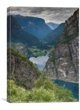 viewpoint aurland valley, Canvas Print