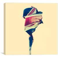 Tattered British Flag, Canvas Print