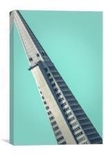 San Francisco Skyscraper Design, Canvas Print