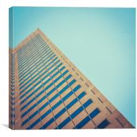 Diagonal Architecture Abstract, Canvas Print