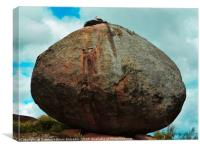 Stork rocks!, Canvas Print