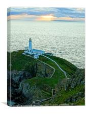 Summer dawn in South Stack, Canvas Print
