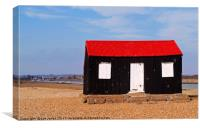Rye Harbour Red and Black Fisherman's Hut, Canvas Print
