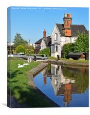 Wardle Lock and Lock Keepers Cottage, Wardle Canal, Canvas Print