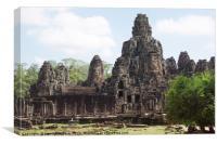 Bayon temple, Cambodia, Canvas Print