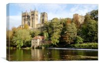 Durham Cathedral & Old Fulling Mill, Canvas Print