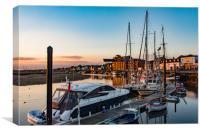 Wells Harbour Sunrise, Canvas Print