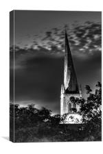 Crooked Spire at Night, Canvas Print