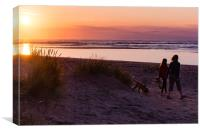 Sunset Stroll, Canvas Print