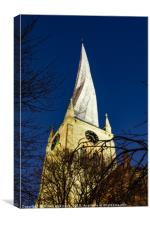 Ye Olde Crooked Spire, Canvas Print