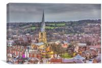 St Marys from the Sky, Canvas Print