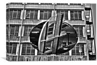 Rotating Building, Canvas Print