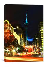 Auckland By Night, Canvas Print