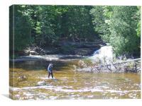 Man fishing, Canvas Print