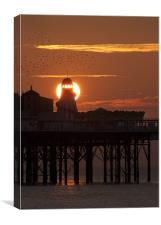 Sunset over Brighton Pier, Canvas Print
