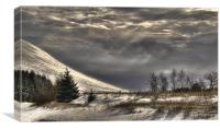 Winter on the beacons, Canvas Print