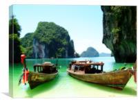 Thai Longboats -1, Canvas Print