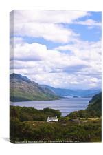 Landscape, Scotland, Loch Maree, Tollie Farm, Canvas Print