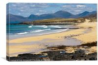 Landscape, Traigh Mhor beach, South Harris, Wester, Canvas Print