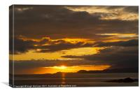 Sunset, Point of Sleat, Isle of Skye, Inner Hebrid, Canvas Print