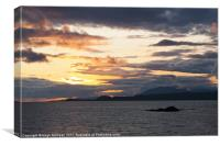 Sunset, Storm clouds, Point of Sleat, Skye, Scotla, Canvas Print
