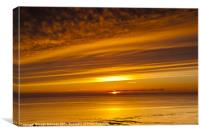 Sunset, Solway Firth, Dumfriesshire, Scotland, win, Canvas Print