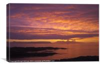 Sunset, Rum, Inner Hebrides, Scotland, Canvas Print