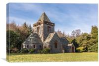 Building, Church, Southwick parish church, Dumfrie, Canvas Print