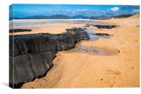 Landscape, Traigh Mhor beach, Finger of rock, Canvas Print