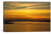 Sunset over the Island of Eigg