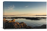 Evening sunlight, Eigg, Ardnamurchan, Sea, Sky, Canvas Print