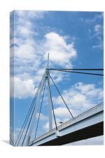 Bridge, Suspension, Footbridge, Dumfries, Canvas Print