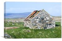 Building, Byre, Barn, Abandoned, Canvas Print