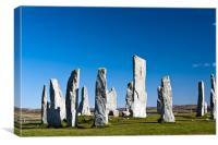 The Callanish standing stones, Canvas Print