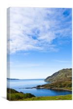 Landscape, Maclean`s Nose, Loch Sunart, Ardnamurch, Canvas Print