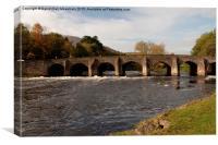 Abergavenny Bridge in summer, Canvas Print