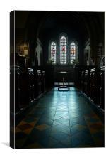 Llangasty Church (interior), Canvas Print