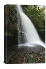 Sgwd Clun Gwyn - Waterfall of the White Meadow, Canvas Print