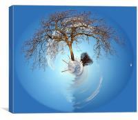 Snow planet, Canvas Print