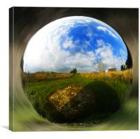 Spherical Object, Canvas Print