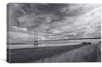 Humber Bridge from Barton on Humber, Canvas Print