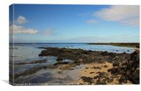 The Rock Beach, Orzola, Lanzarote, Canvas Print